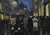 Evening Stroll By Paul Gustav Fischer