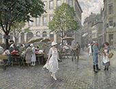 Hojbro Plads Copenhagen By Paul Gustav Fischer