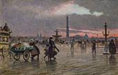 La Place de la Concorde By Paul Gustav Fischer