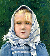 Portrait of a Young Girl 2 By Paul Gustav Fischer