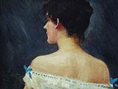 Portrait of Lady By Paul Gustav Fischer