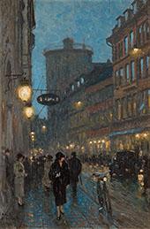 Scene Kobmagergade Copenhagen By Paul Gustav Fischer
