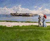 The Conversation Helgoland By Paul Gustav Fischer