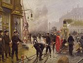 The Fire Brigade Turn out in Kultorvet Copenhagen By Paul Gustav Fischer