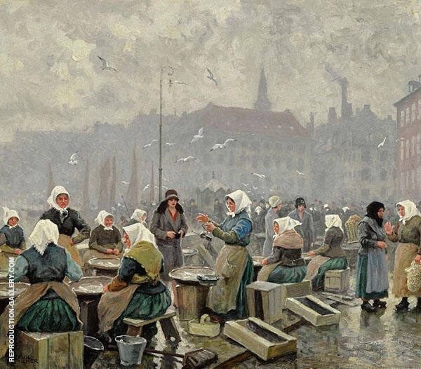 The Fish Market Painting By Paul Gustav Fischer - Reproduction Gallery