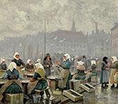 The Fish Market By Paul Gustav Fischer