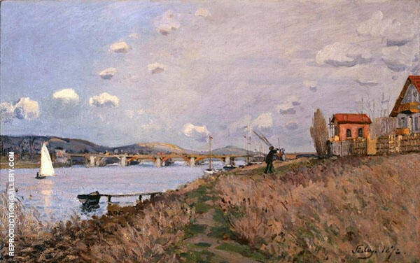 The Bridge at Argenteuil 1872 By Alfred Sisley