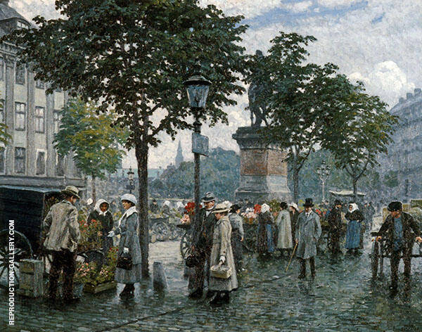 The Flower Market By Paul Gustav Fischer