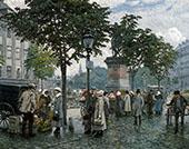 The Flower Market By Paul Gustav Fischer