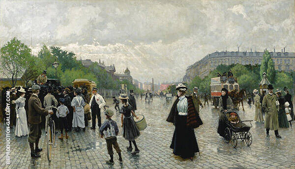 What's Going on in Copenhagen Painting By Paul Gustav Fischer