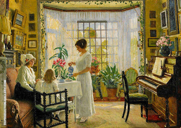 Interior 1914 By Paul Gustav Fischer