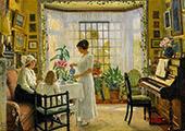 Interior 1914 By Paul Gustav Fischer