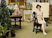 The Artist's Studio 1904 By Paul Gustav Fischer