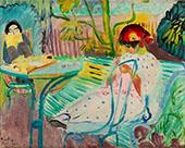 Jardin in The Garden Fontenay Aux Roses 1920 By Sigrid Hjerten