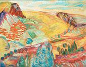 Landscape Auvergne By Sigrid Hjerten