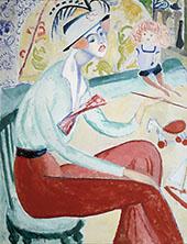Self Portrait 1914 By Sigrid Hjerten