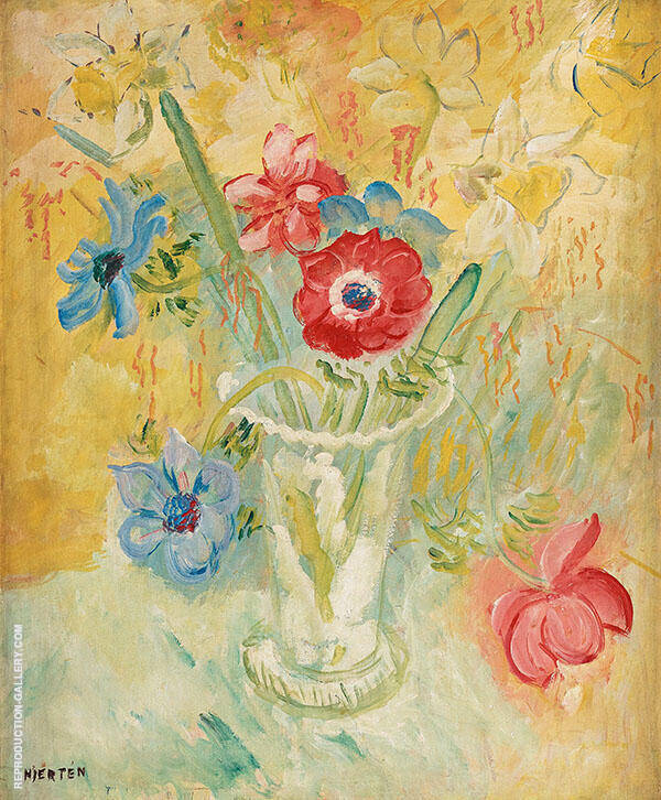 Still Life with Flowers By Sigrid Hjerten
