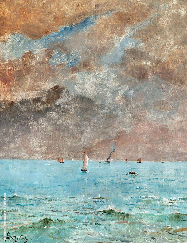 A Calm Sea Le Havre By Alfred Stevens