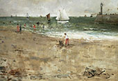 Figures on The Beach By Alfred Stevens