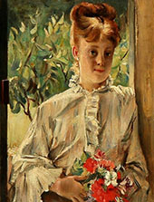 Girl with Flowers By Alfred Stevens