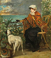 Lady with a Dog By Alfred Stevens