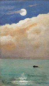 Moonlit Seascape at Cap Martin 1892 By Alfred Stevens