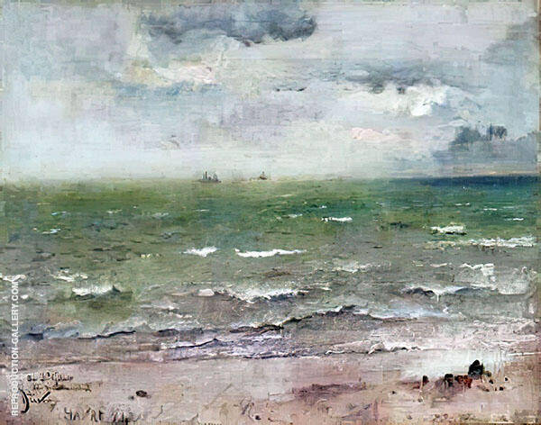 Seascape Le Havre 1884 By Alfred Stevens