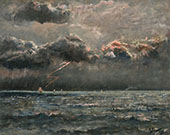 Seascaper in Stormy Weather 1886 By Alfred Stevens
