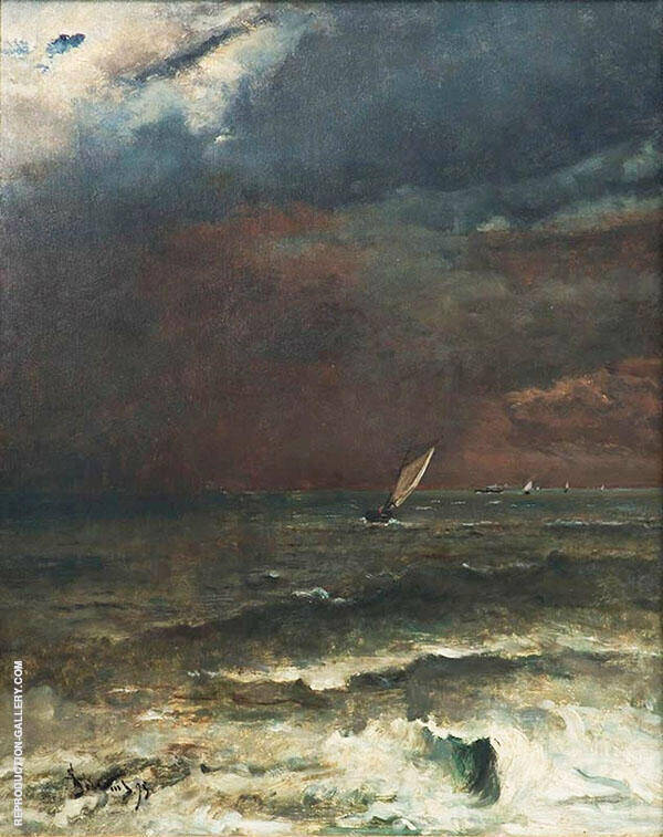 Seascape Storm Effect By Alfred Stevens