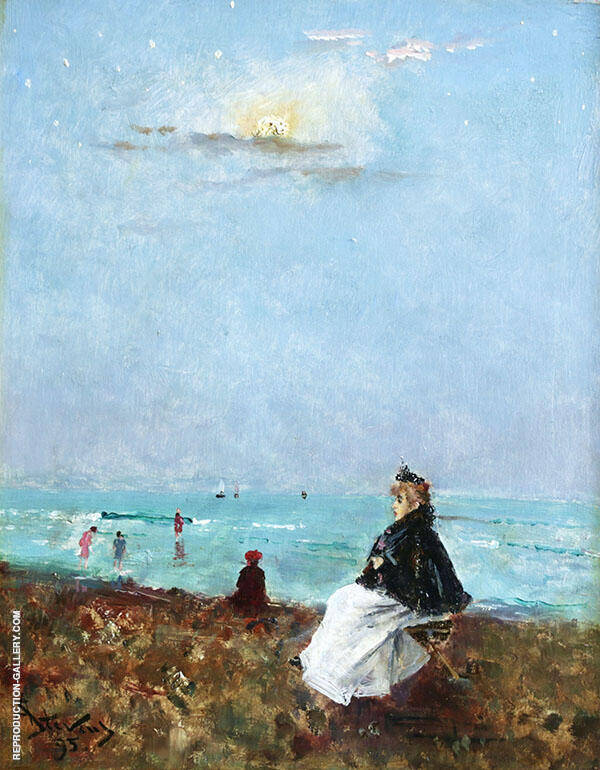 Sur le Plage 1895 By Alfred Stevens