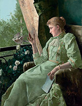 Symphony in Green By Alfred Stevens