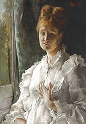 Woman in White By Alfred Stevens