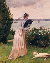 Woman with a Fan By Alfred Stevens