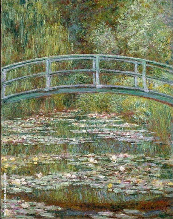 Bridge over a Pond of Water Lilies 1899 By Claude Monet