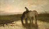 Drinking Horses By Anton Mauve