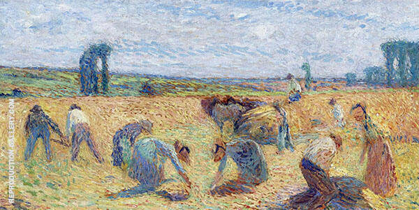 Harvesters By Henri Jean Guillaume Martin