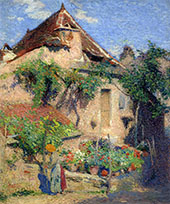 House and Garden at Saint Cirq Lapopie 1920 By Henri Jean Guillaume Martin