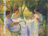 Jeune Femmes en Jardin de Marquayrol By Henri Jean Guillaume Martin