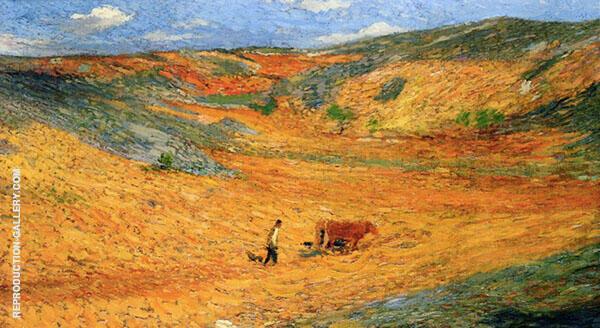 Laboureur au Fond dune Combe By Henri Jean Guillaume Martin