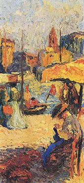 La Femme Assis une Port By Henri Jean Guillaume Martin