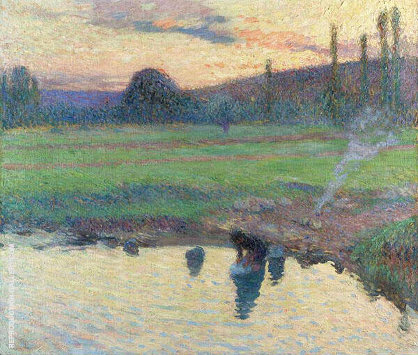 Laundress by The Water 1905 By Henri Jean Guillaume Martin