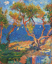 Olive Trees by The Sea By Henri Jean Guillaume Martin
