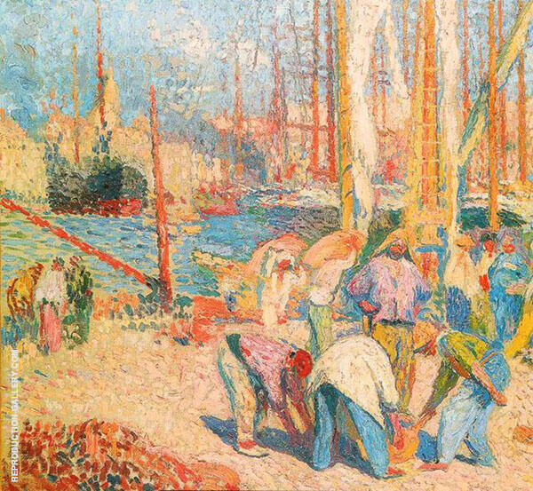 Port of Marseilles By Henri Jean Guillaume Martin