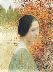 Portrait of a Woman By Henri Jean Guillaume Martin