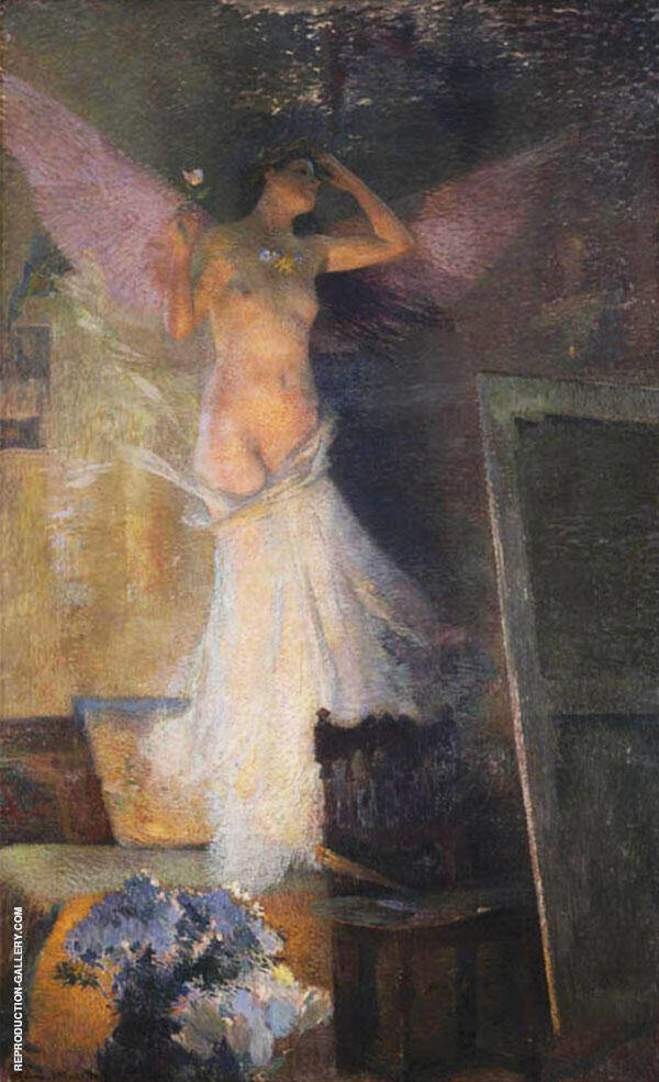 The Artist's Muse By Henri Jean Guillaume Martin