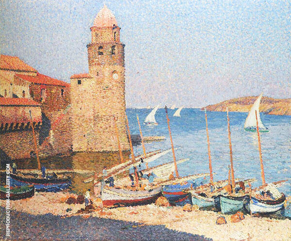 The Port Collioure By Henri Jean Guillaume Martin