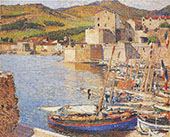 The Port de Collioure By Henri Jean Guillaume Martin