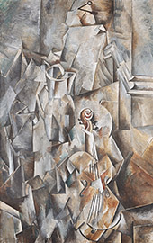 Pitcher and Violin c1909 By Georges Braque