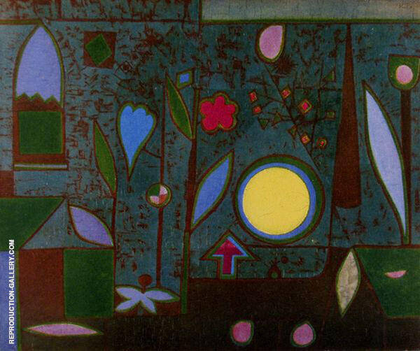 Full Moon in the Garden by Paul Klee | Oil Painting Reproduction Replica On Canvas - Reproduction Gallery