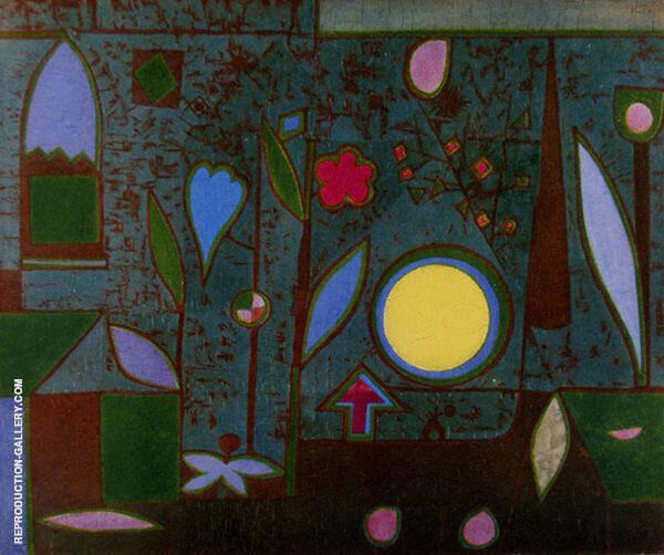 Full Moon in the Garden By Paul Klee